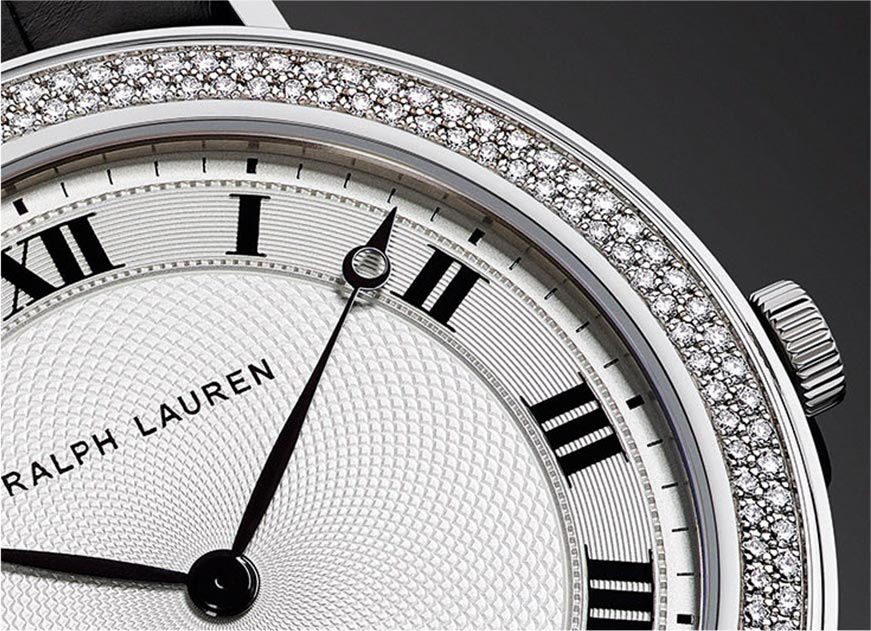 ralph lauren watches ralph lauren uk double row of diamonds set in slim classique bezel